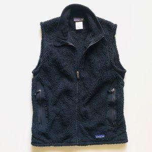 Patagonia Black Fleece Vest Zip Pockets M